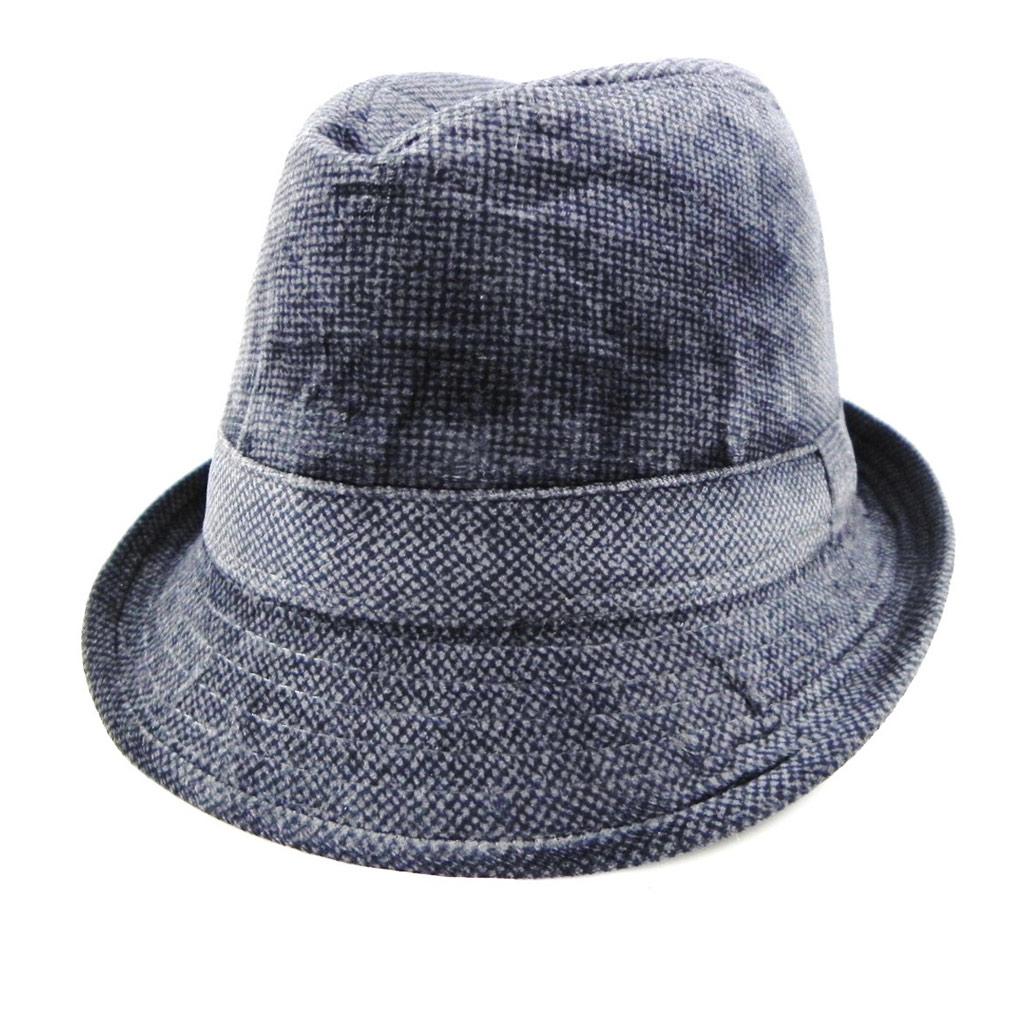 Borsalino velours \'Giovanny\' gris - [H8537]