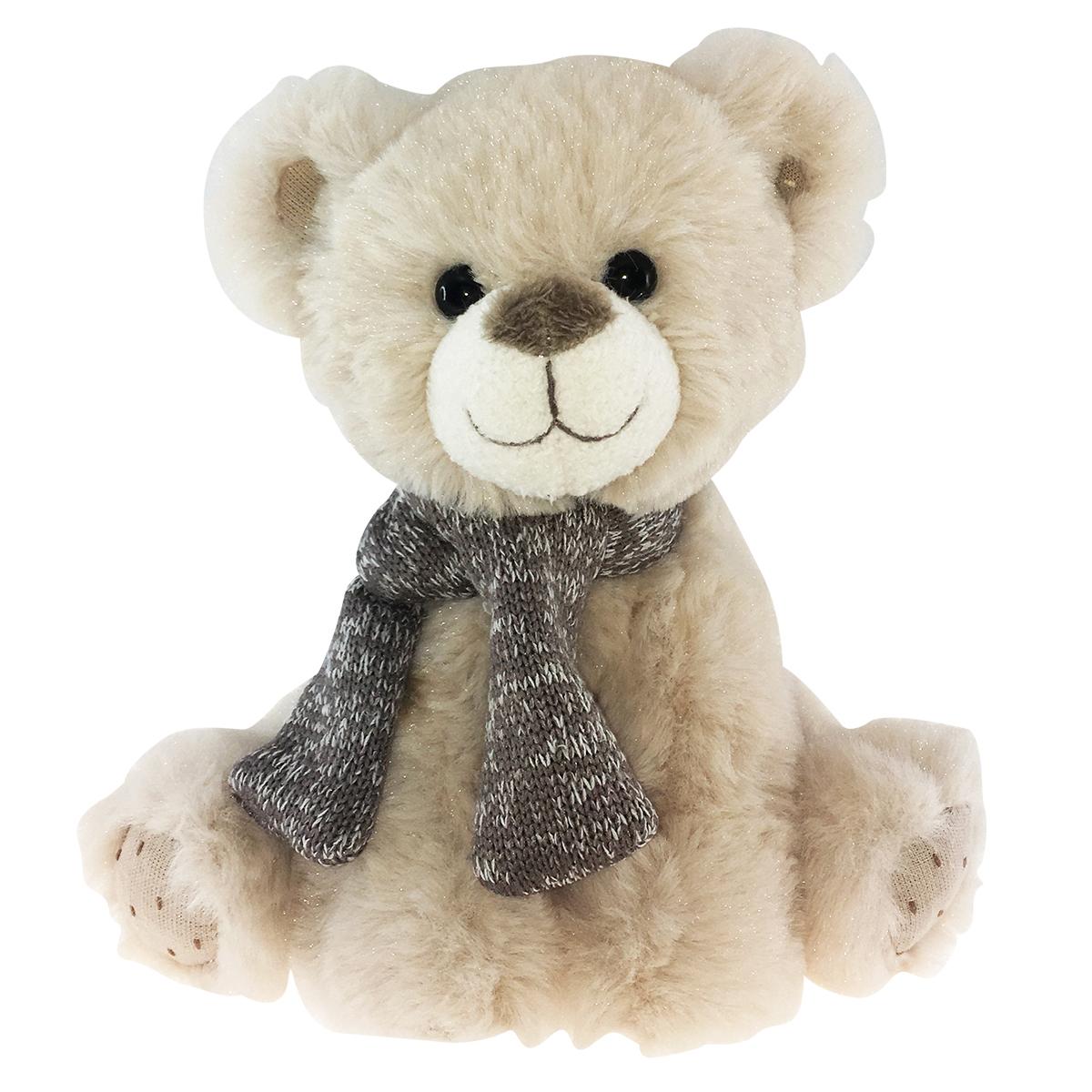 Peluche design \'Teddy Bear\' beige taupe - 35 cm - [Q3911]