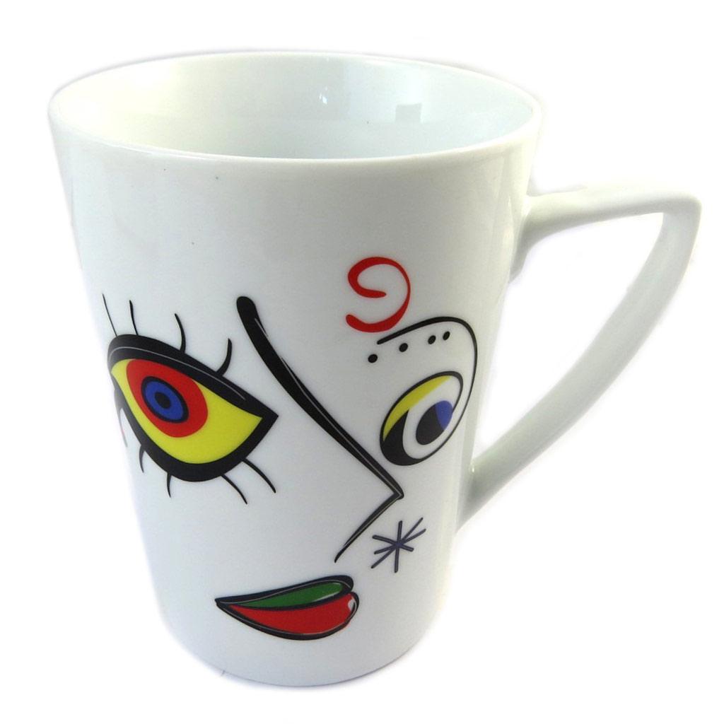 Mug porcelaine \'Love Art\' visage - [P0995]
