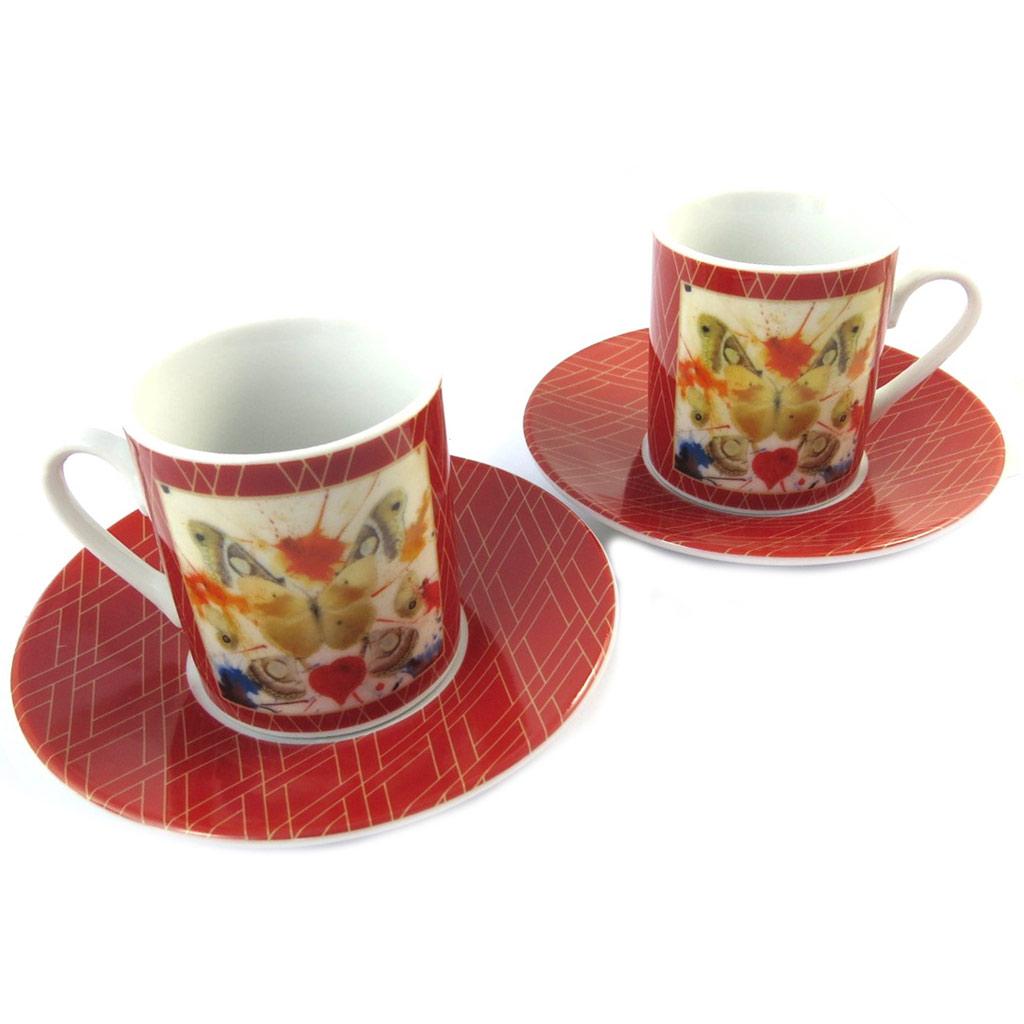 Coffret 2 tasses à café \'Salvador Dali\' Butterfly - [P1000]