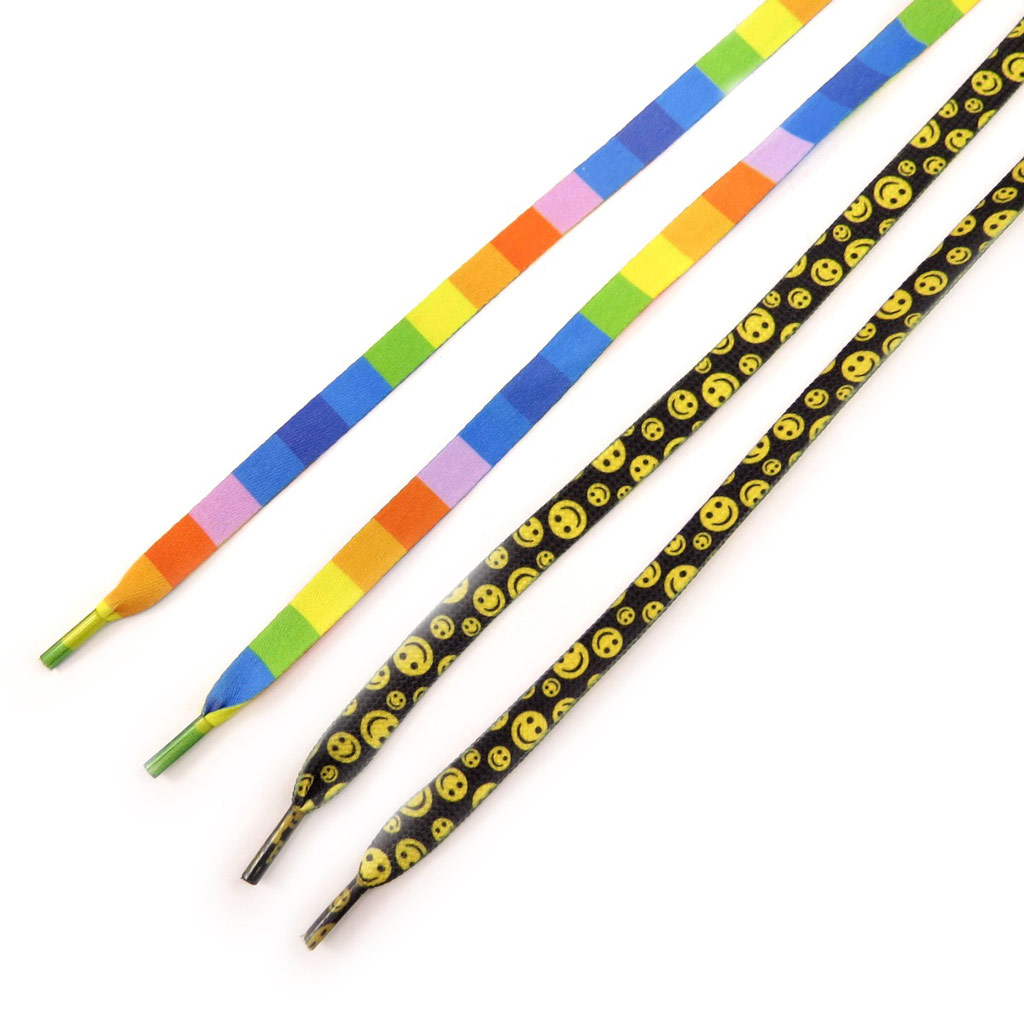 2 paires de lacets \'Gay pride Smiley\'  - [K9457]
