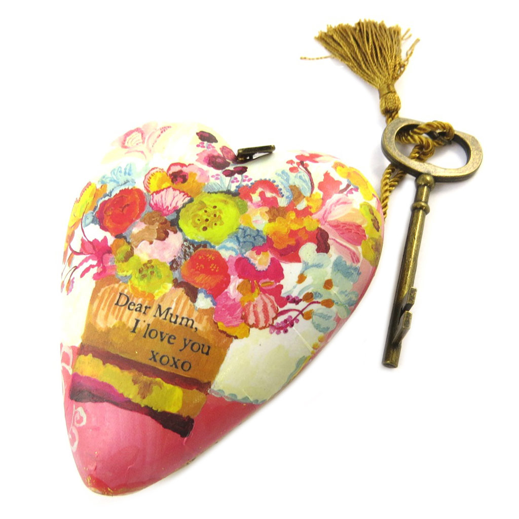Objet de décoration \'Art Hearts\' multicolore (Dear Mum I Love You) - 10x85x35 cm - [P1142]