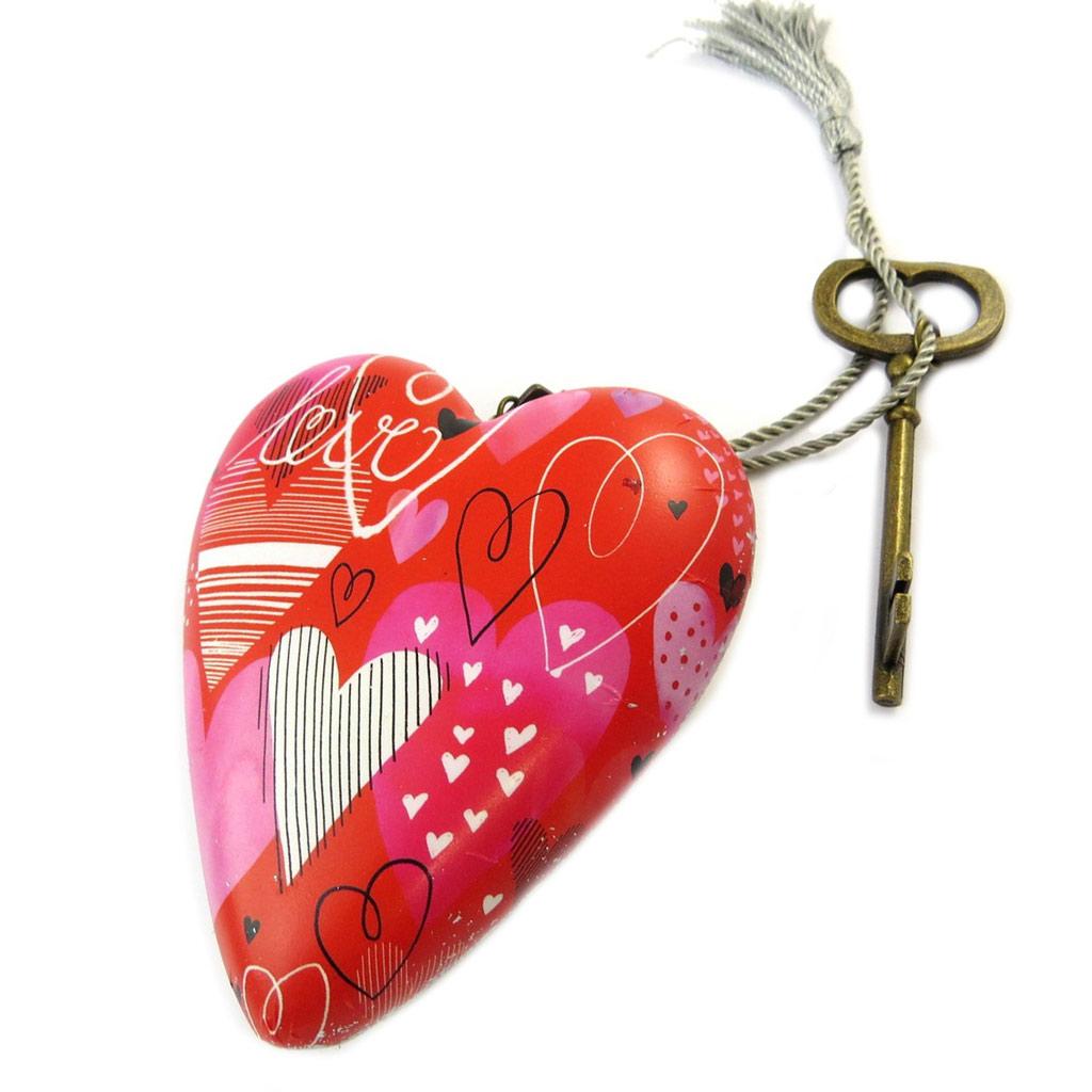 Objet de décoration \'Art Hearts\' rouge (Love) - 10x85x35 cm - [P1146]