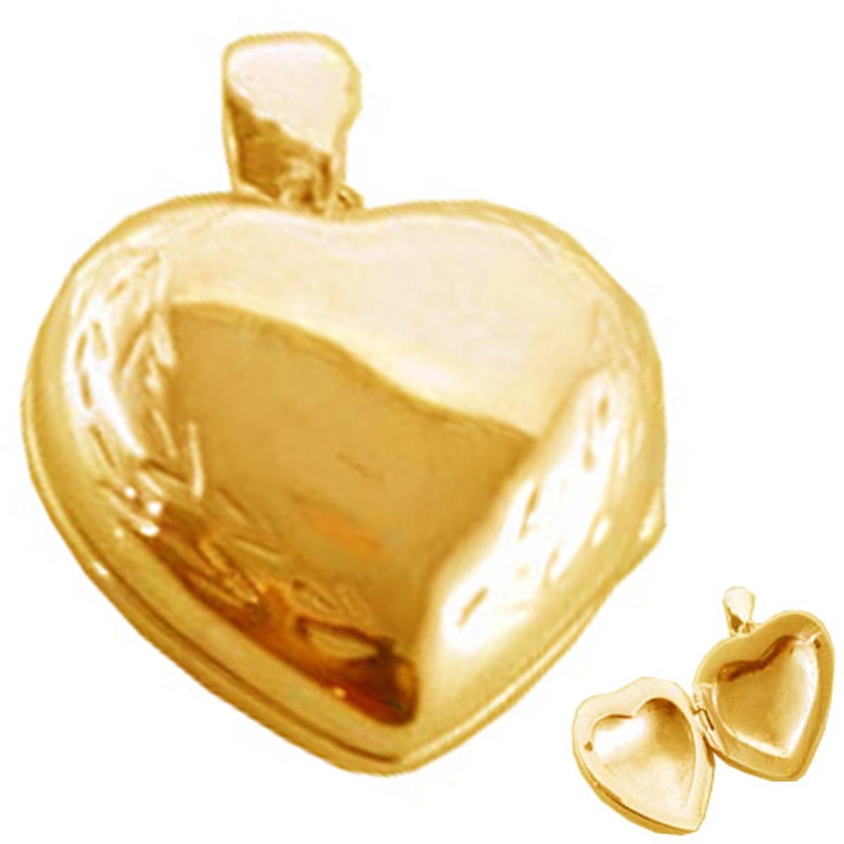 Pendentif Cassolette plaqué or \'Love Secrets\' - 20 mm - [P1153]