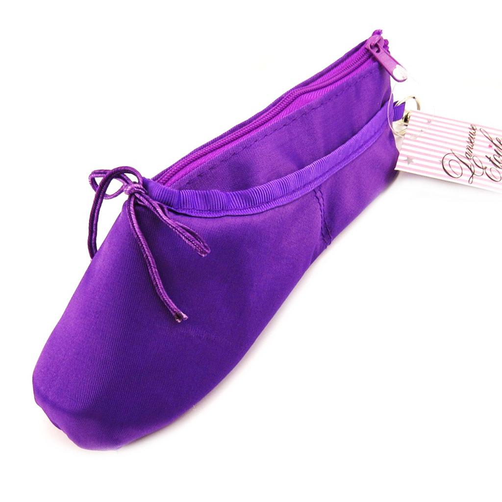 Trousse créateur \'Ballerines\' violet satiné - [L4865]
