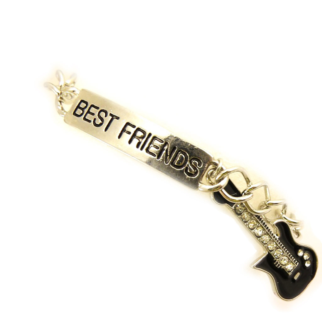 Bracelet \'Best Friends\' noir argenté - [L5165]