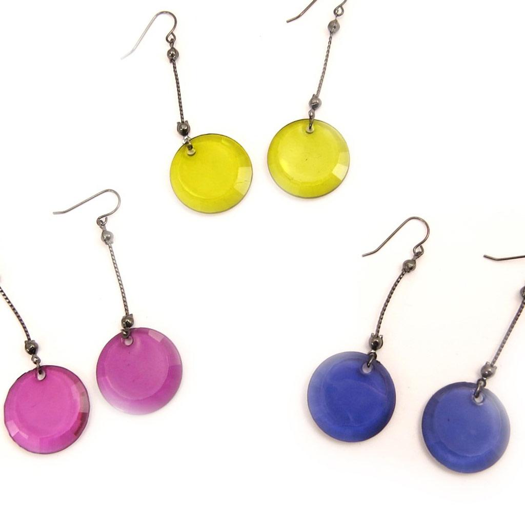 3 paires de boucles \'Coloriage\' multicolore - [L5203]