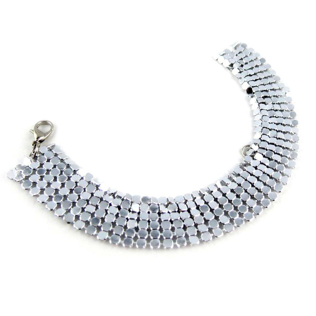 Bracelet \'Cotte de Maille\' argenté - [K9760]