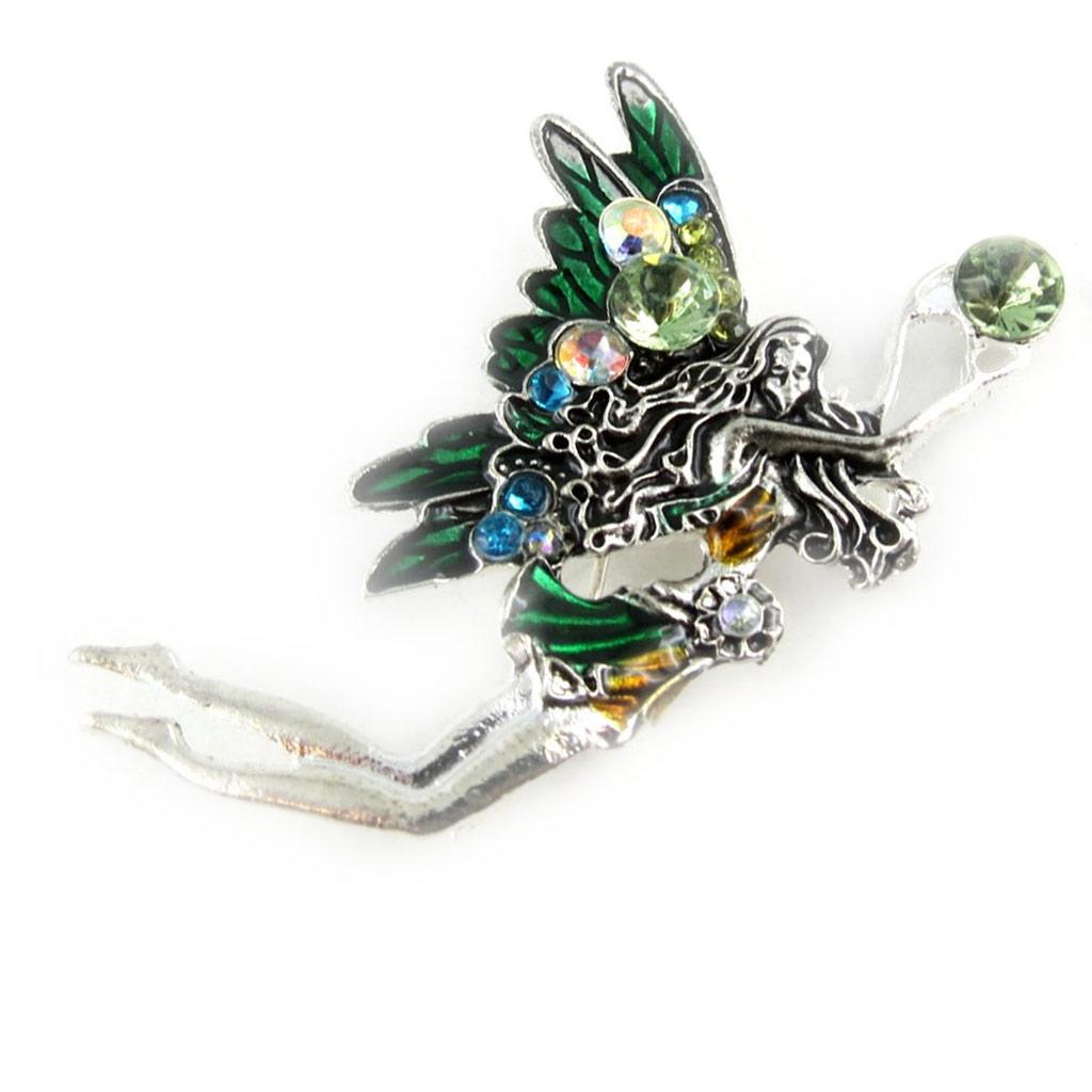 Broche créateur \'Fairy Dreams\' vert - [K9765]