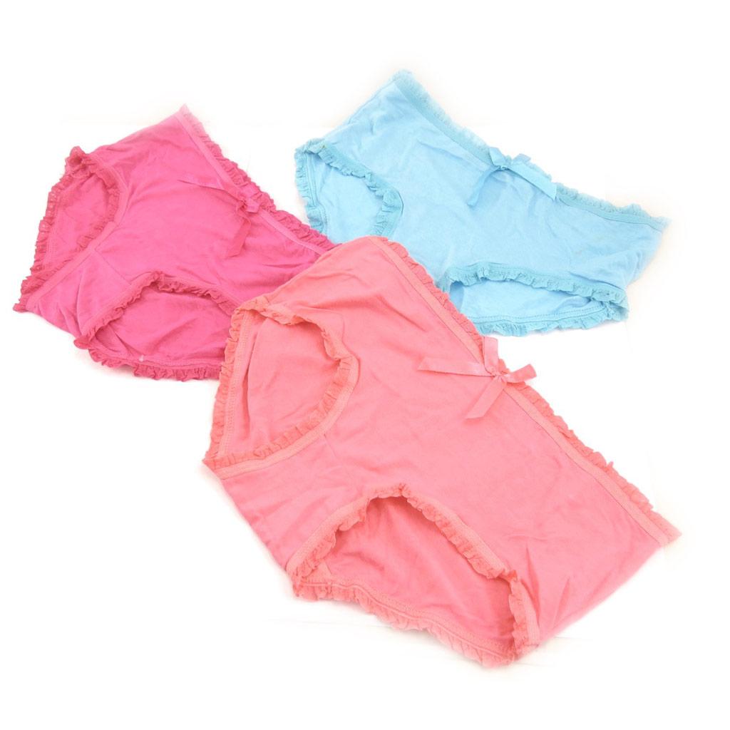 3 boxers \'Scarlett\' rose bleu - [K9918]