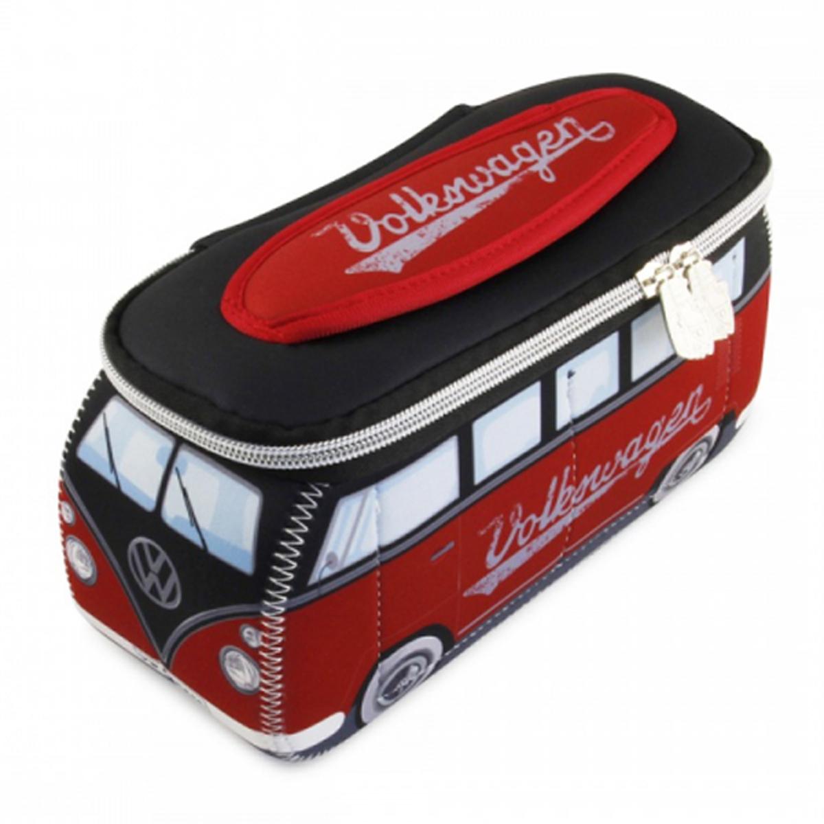 Trousse de toilette \'Volkswagen\' rouge noir - 23x13x75 cm - [P1365]