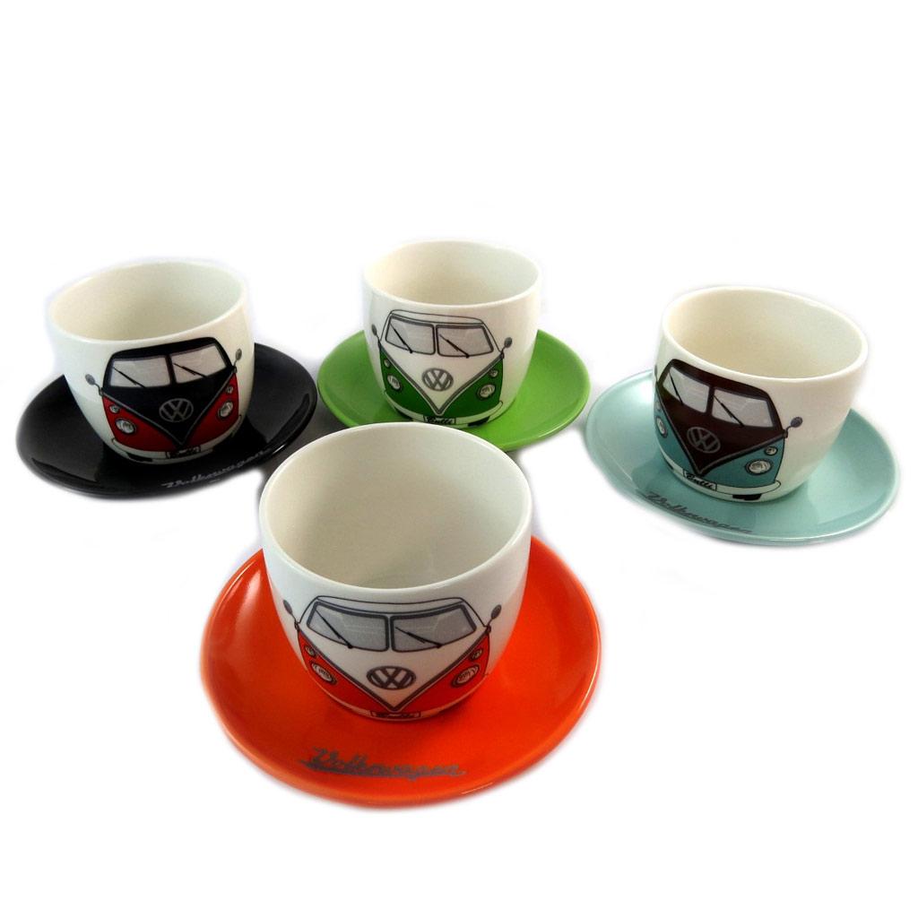 Coffret 4 tasses espressos créateur \'Volkswagen\' - [P1368]