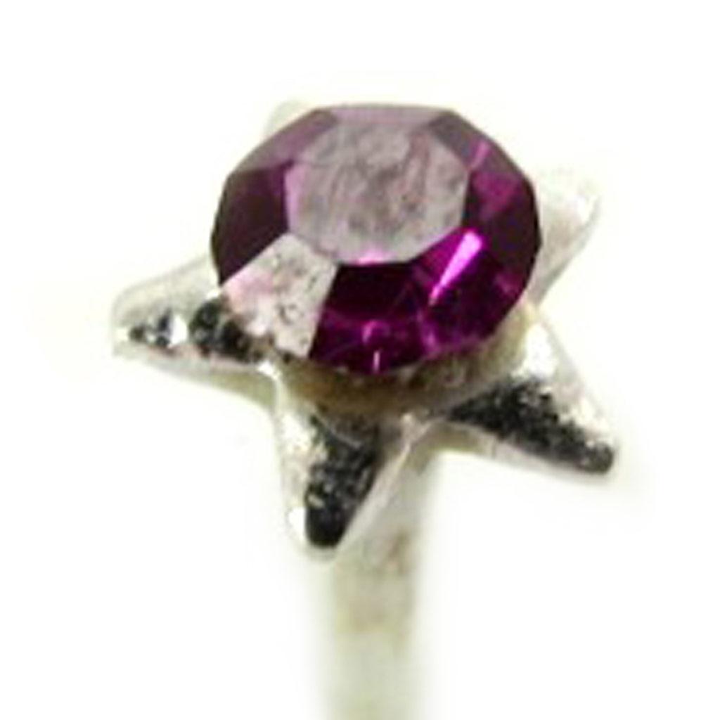 Stud Argent \'Etoile\' violet - [L5413]