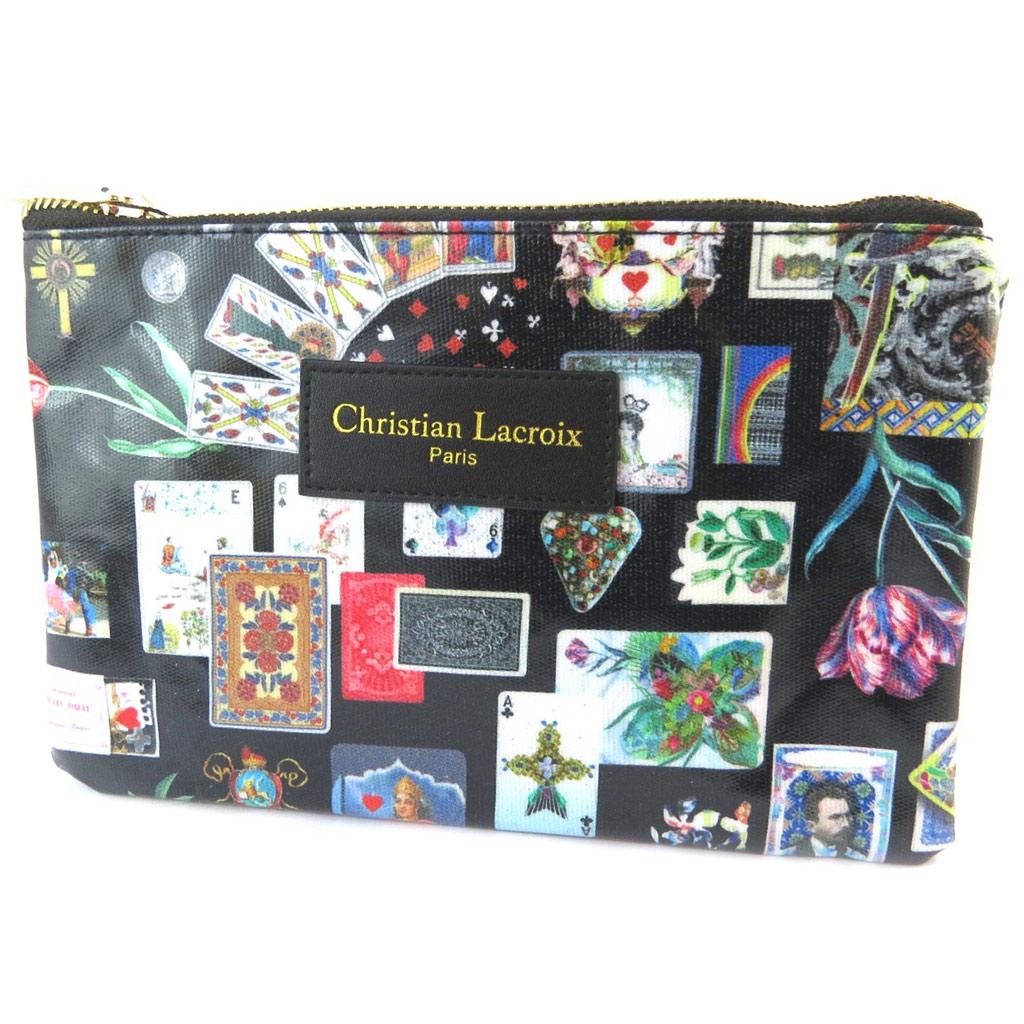 Christian Lacroix [P1381] - Trousse plate créateur \'Christian Lacroix\' noir multicolore (cartes) - 22x14 5x1 cm… - [P1381]