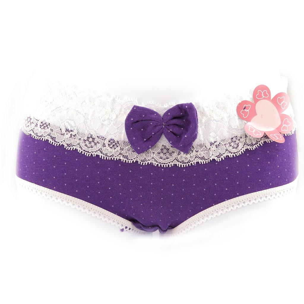 3 culottes \'Scarlett\' violet rose bleu (petits pois) - [K9996]
