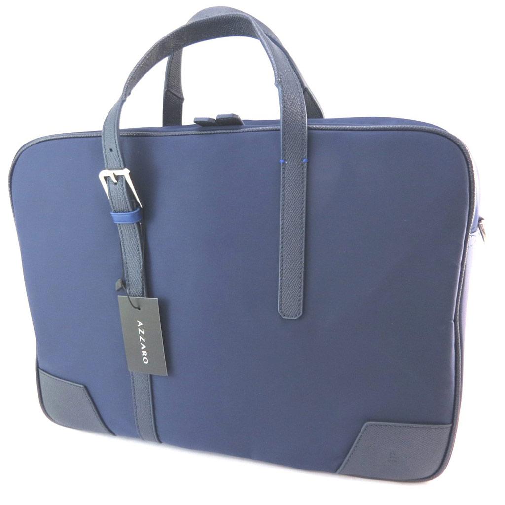 Sac business, porte-ordinateur \'Azzaro\' bleu (special ordinateur 15\') - 38x28x9 cm - [P1442]