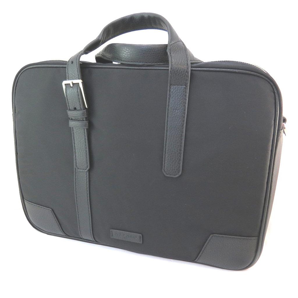 Sac business, porte-ordinateur \'Azzaro\' noir (special ordinateur 15\') - 38x28x9 cm - [P1444]