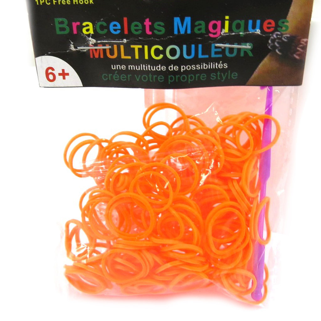 \'Looms\' ou \'bracelets magiques\' orange - [L5606]