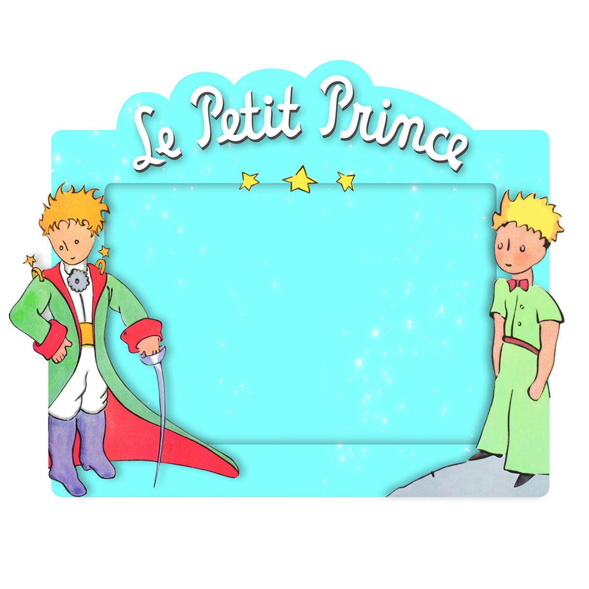 Cadre photo résine \'Le Petit Prince\' bleu - 19x16 cm (photo 10x15 cm) - [Q4020]