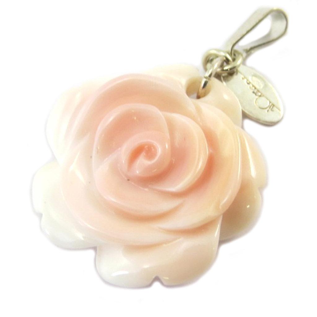 Pendentif Argent \'Rosa Romantica\' rose - [P2536]