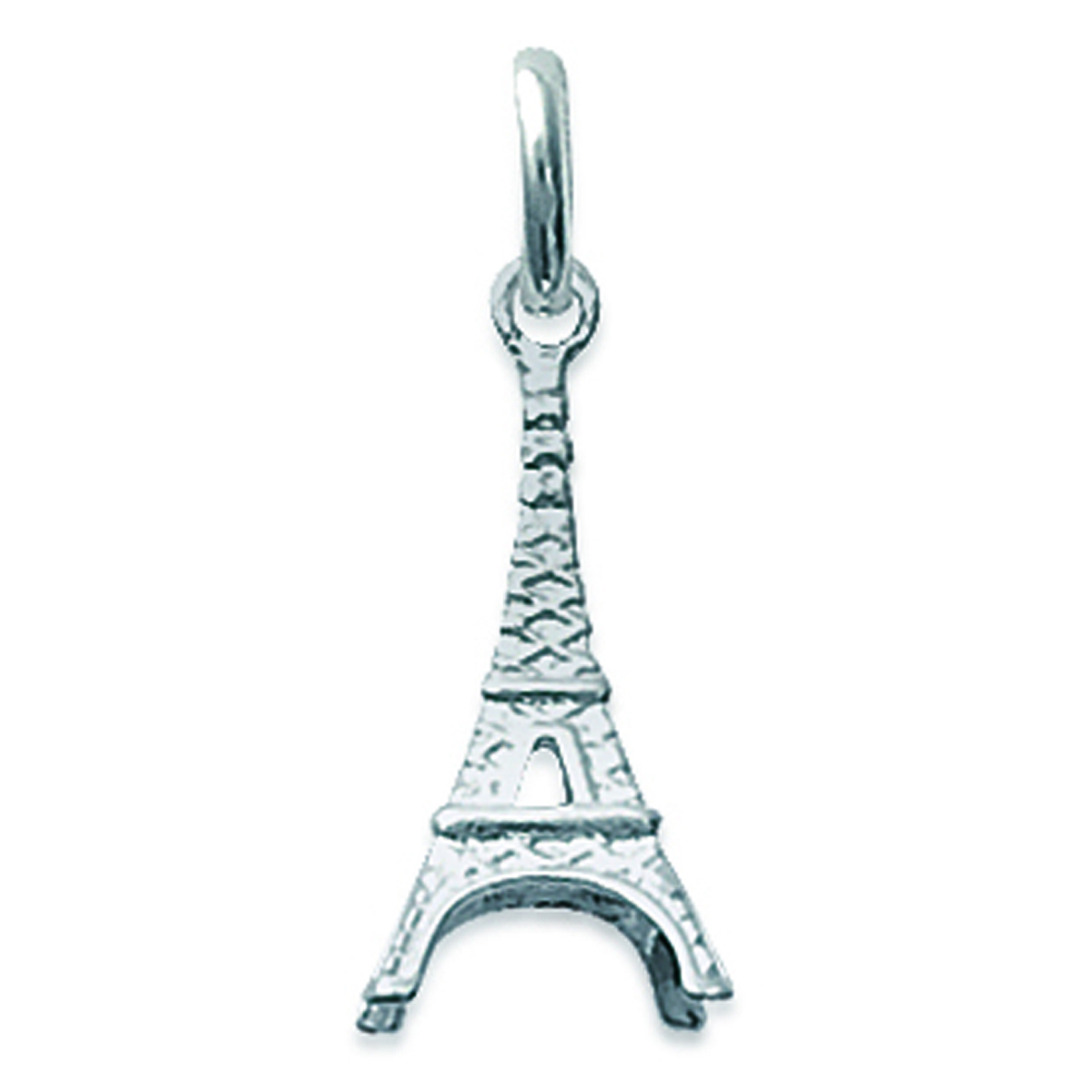 Pendentif Argent \'Tour Eiffel\' argenté - 10x18 mm - [F1349]