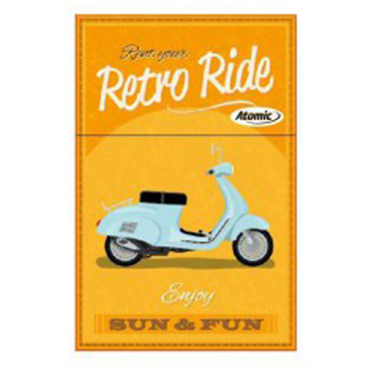 Etui à paquet de cigarettes \'Scooter Rétro\' orange (rent your Retro ride) - 85x5 cm - [Q3224]