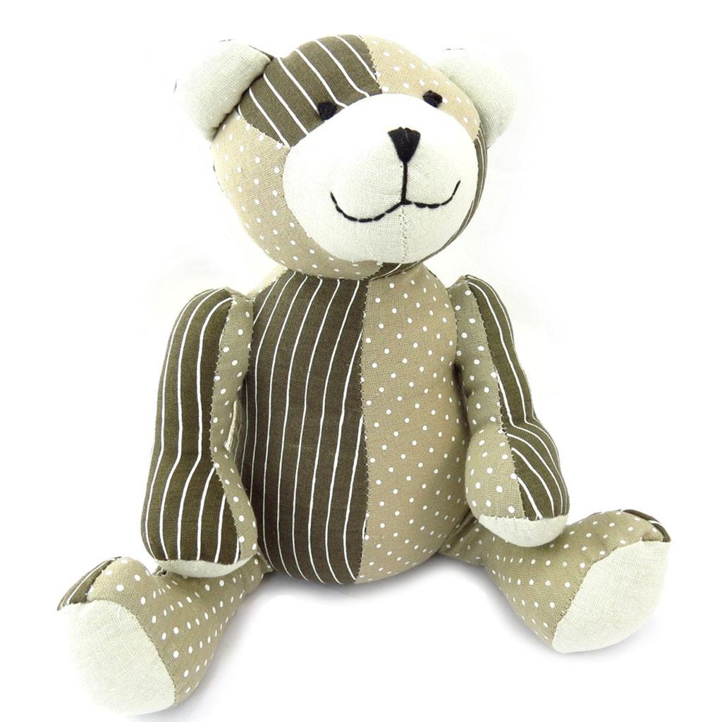 Peluche Cale porte \'Teddy\' taupe - [K3533]