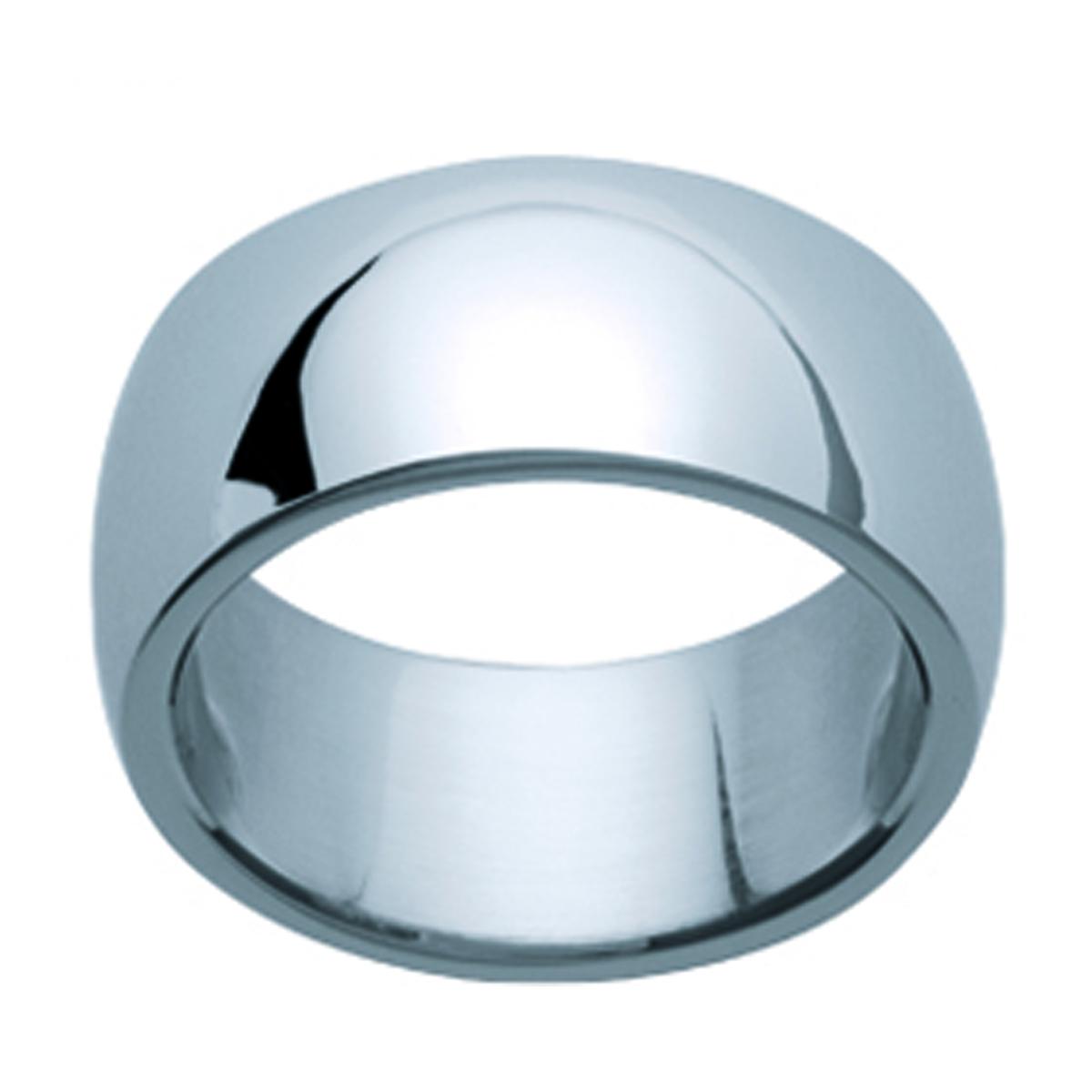 Alliance acier \'Unique\' argenté - 10 mm - [E5742]