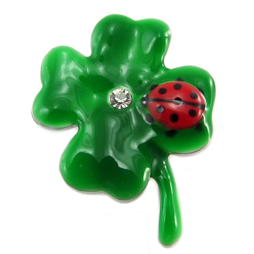 Broche pin\'s créateur \'Lilipoupettes\' (trèfle) vert - 35x25 mm - [P7442]