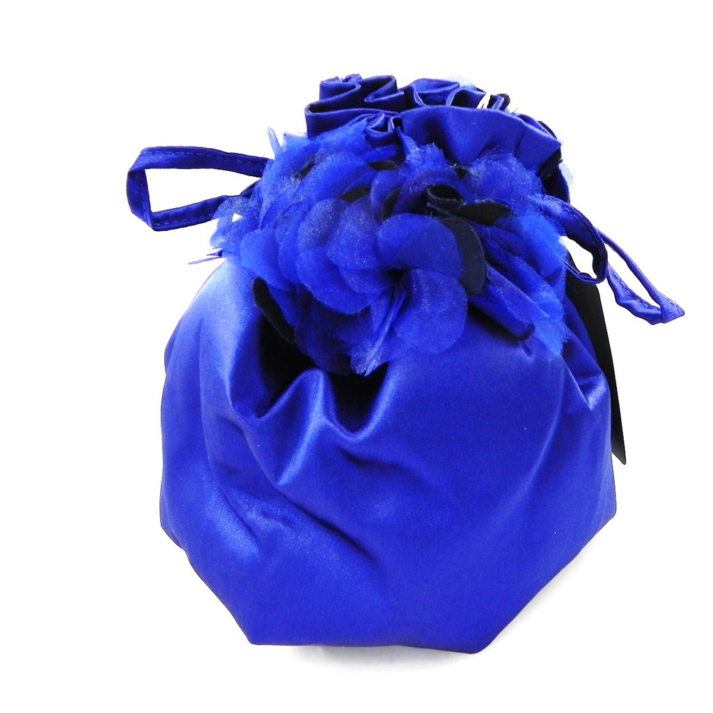 Sac Bourse de cérémonie \'Nina\' bleu nuit - [H4105]