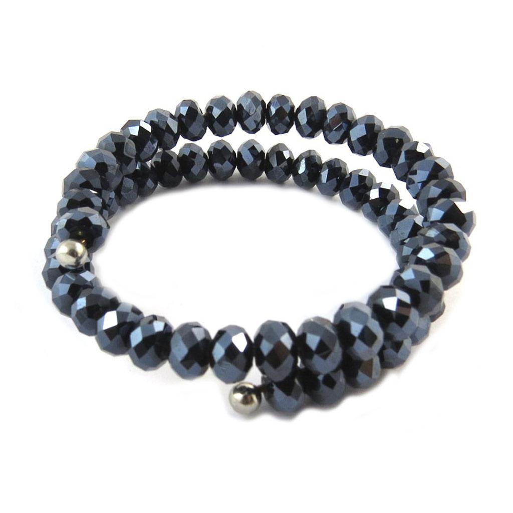 Bracelet créateur \'Sissi\' gris - [N5434]