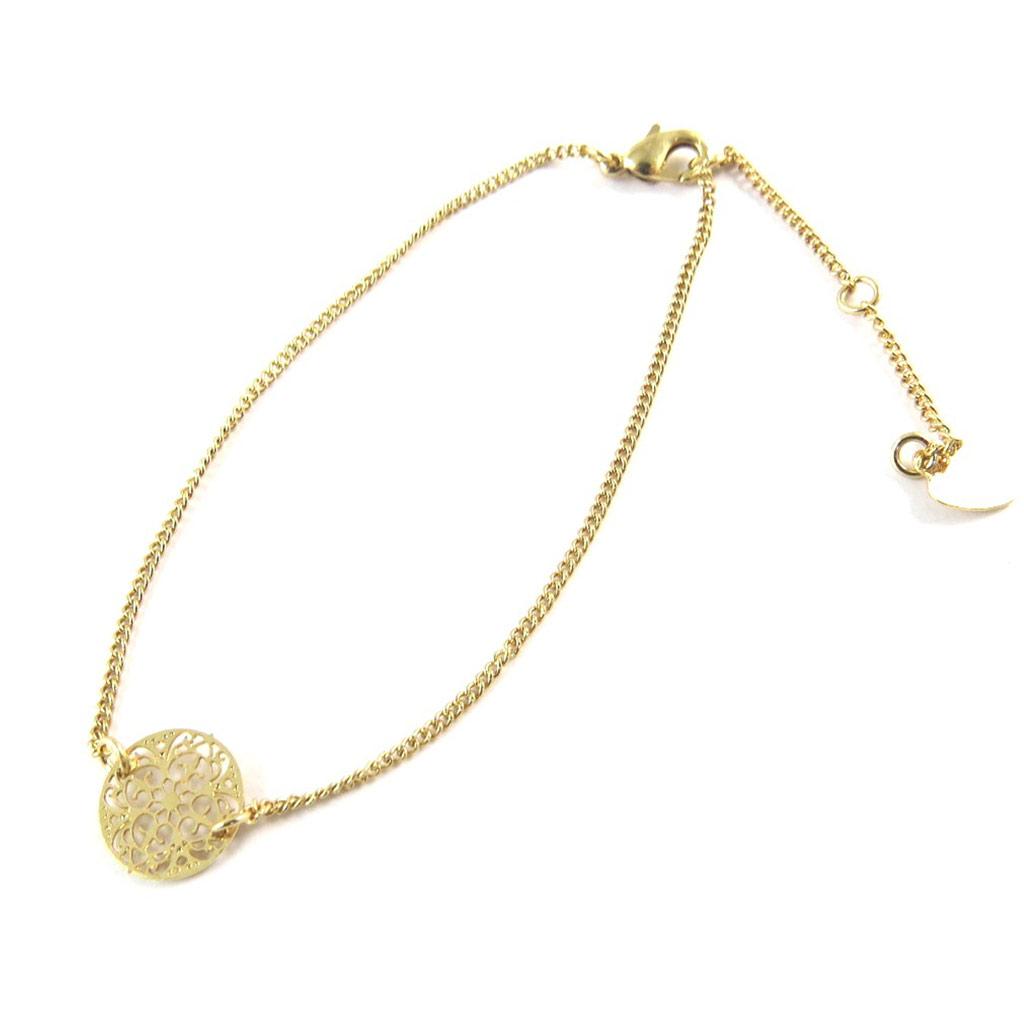 Bracelet \'Carmen\' doré - [N8874]