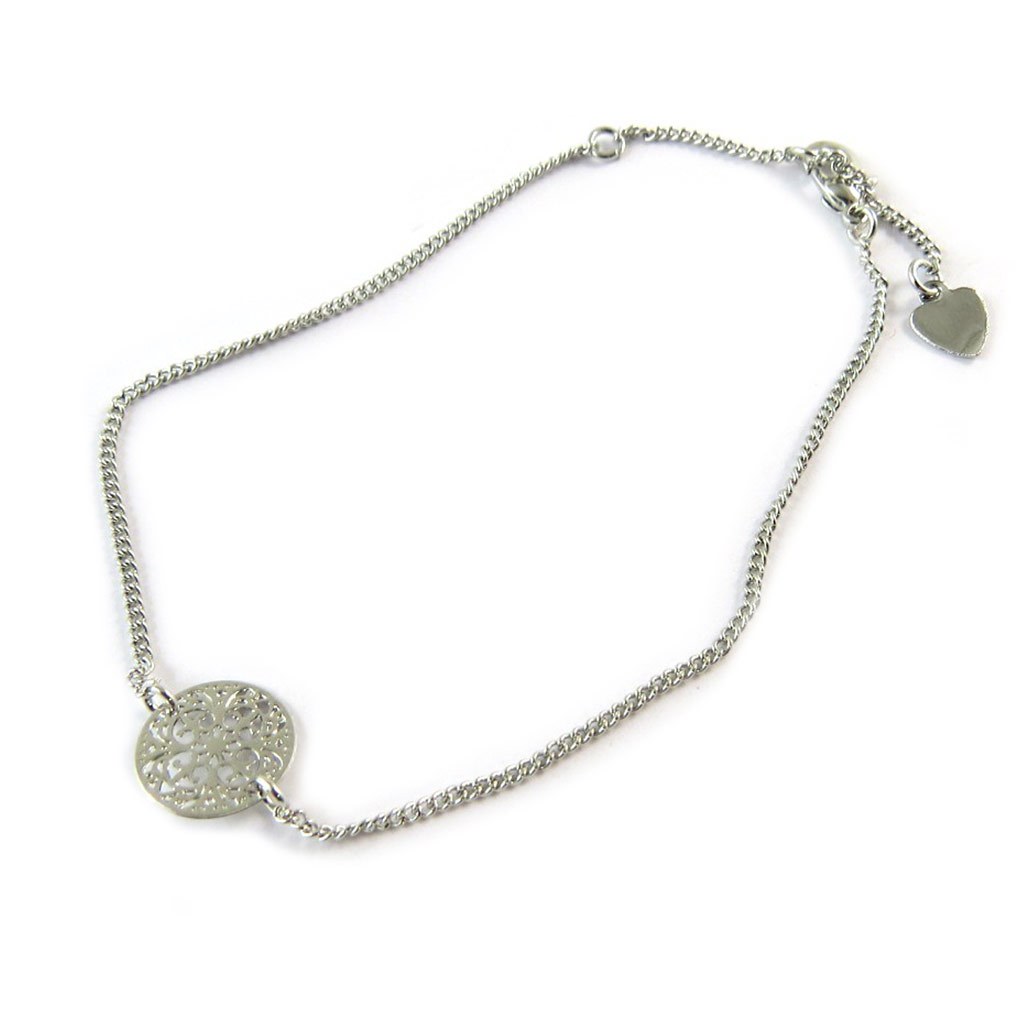 Bracelet \'Carmen\' argenté - [N8875]