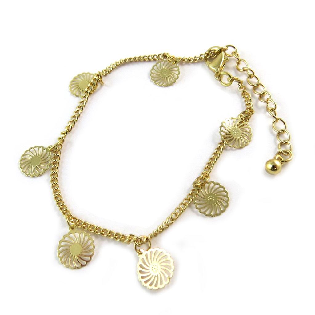 Bracelet \'Carmen\' doré - [N8876]