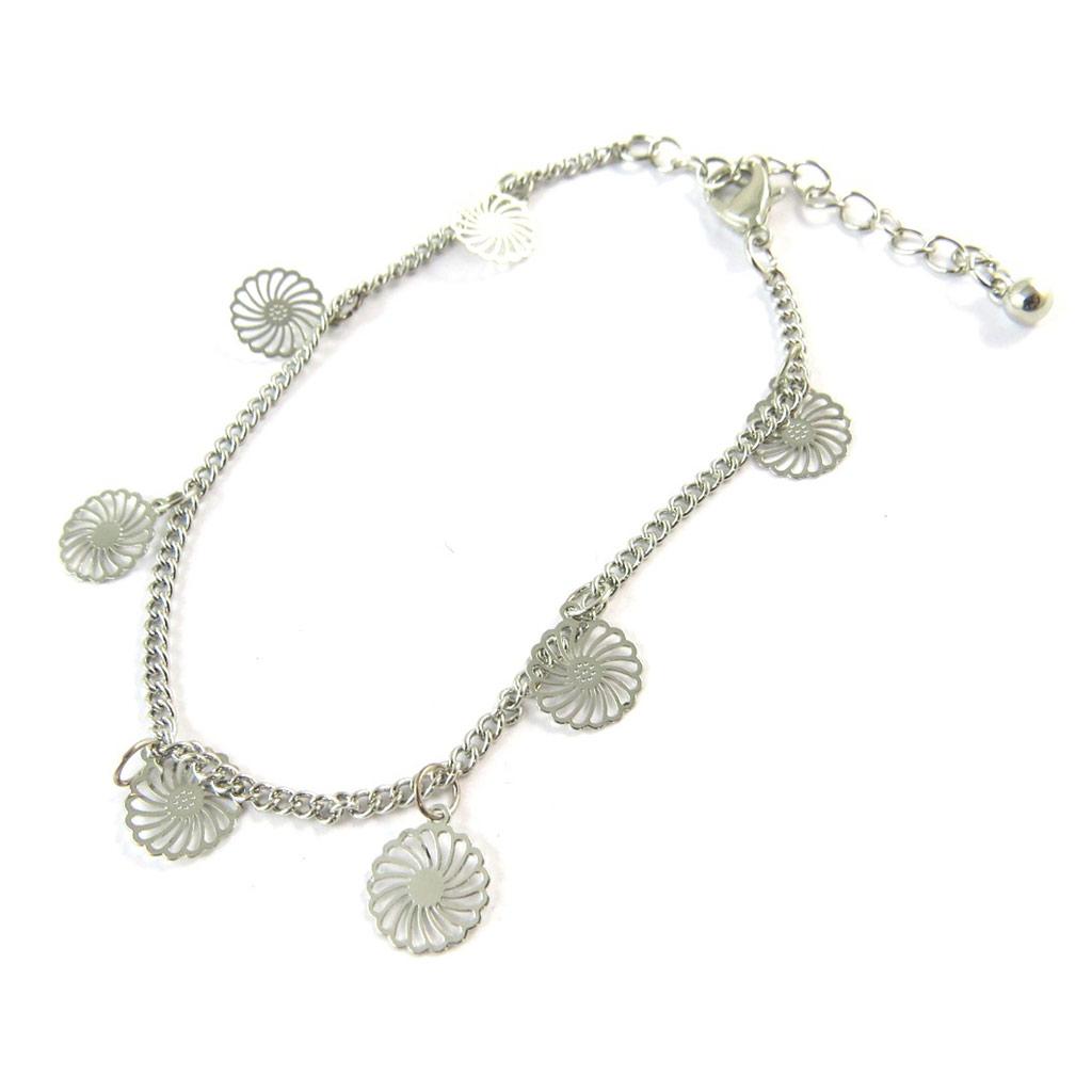 Bracelet \'Carmen\' argenté - [N8877]