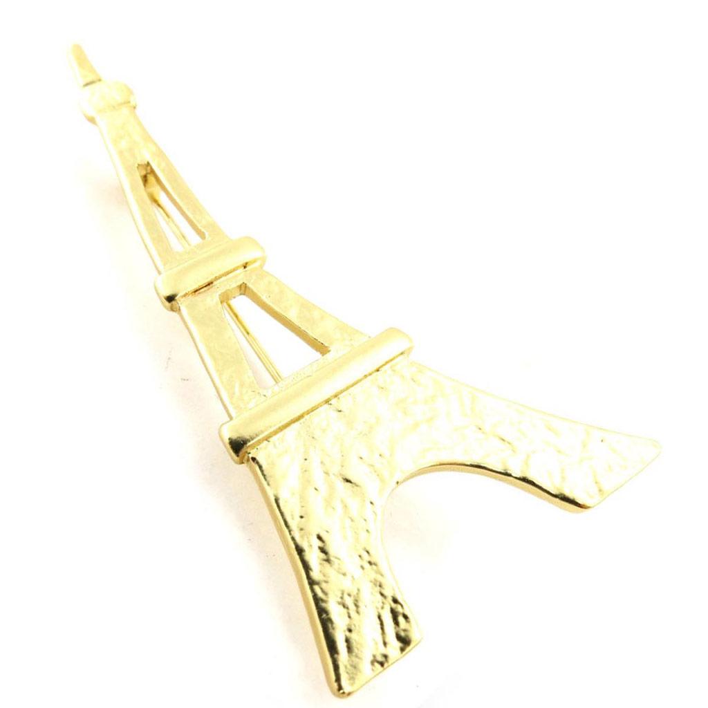 Broche Créateur \'Tour Eiffel\' doré - 6x33 cm - [J3359]