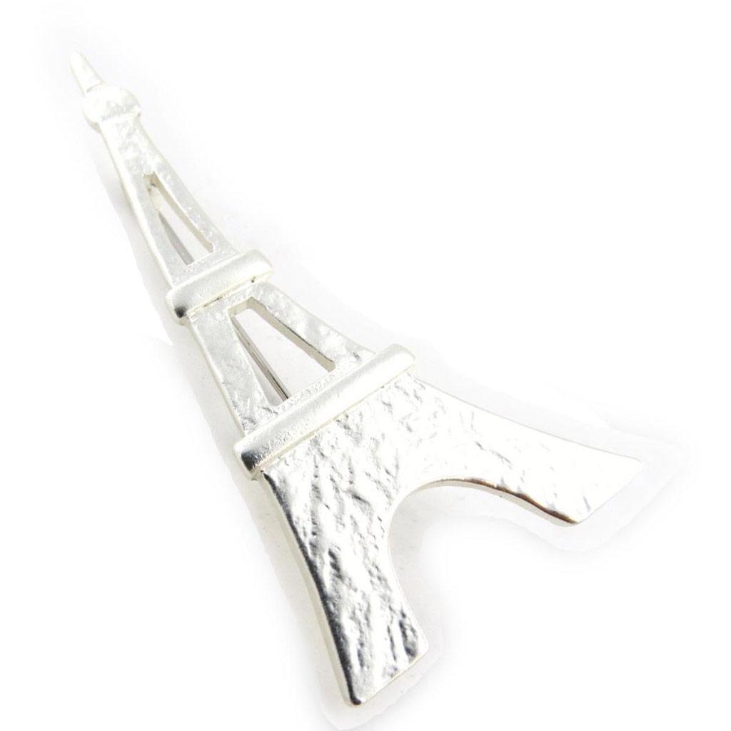 Broche Créateur \'Tour Eiffel\' argenté - 6x33 cm - [J3360]