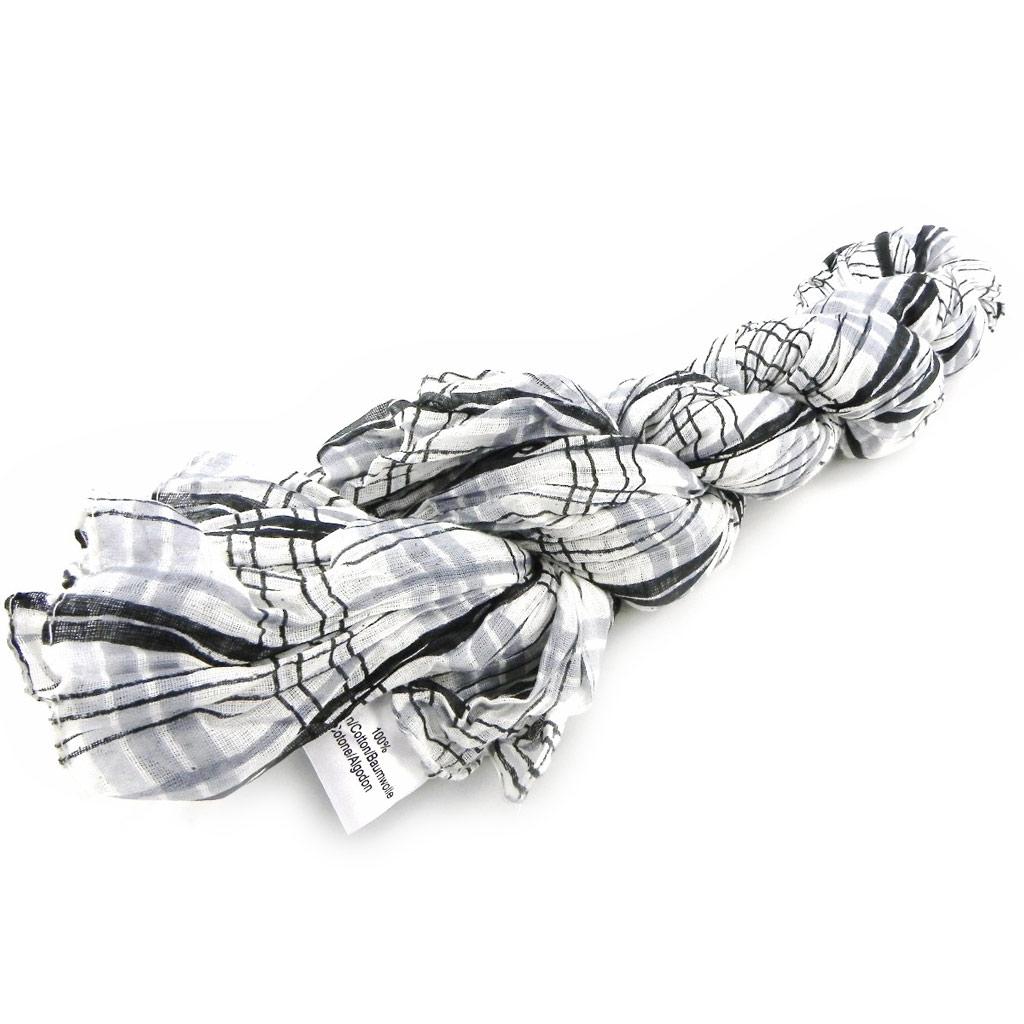 Echarpe \'Carreaux\' noir gris - [H4509]