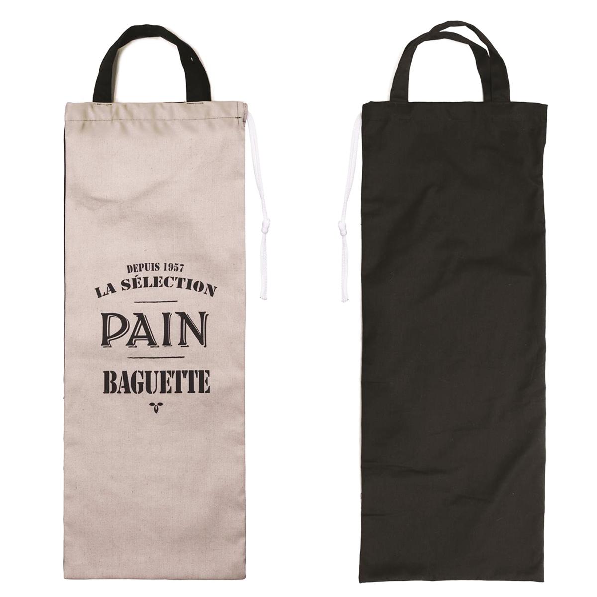 Sac à pain \'Pain Baguette\' gris noir - [M7710]