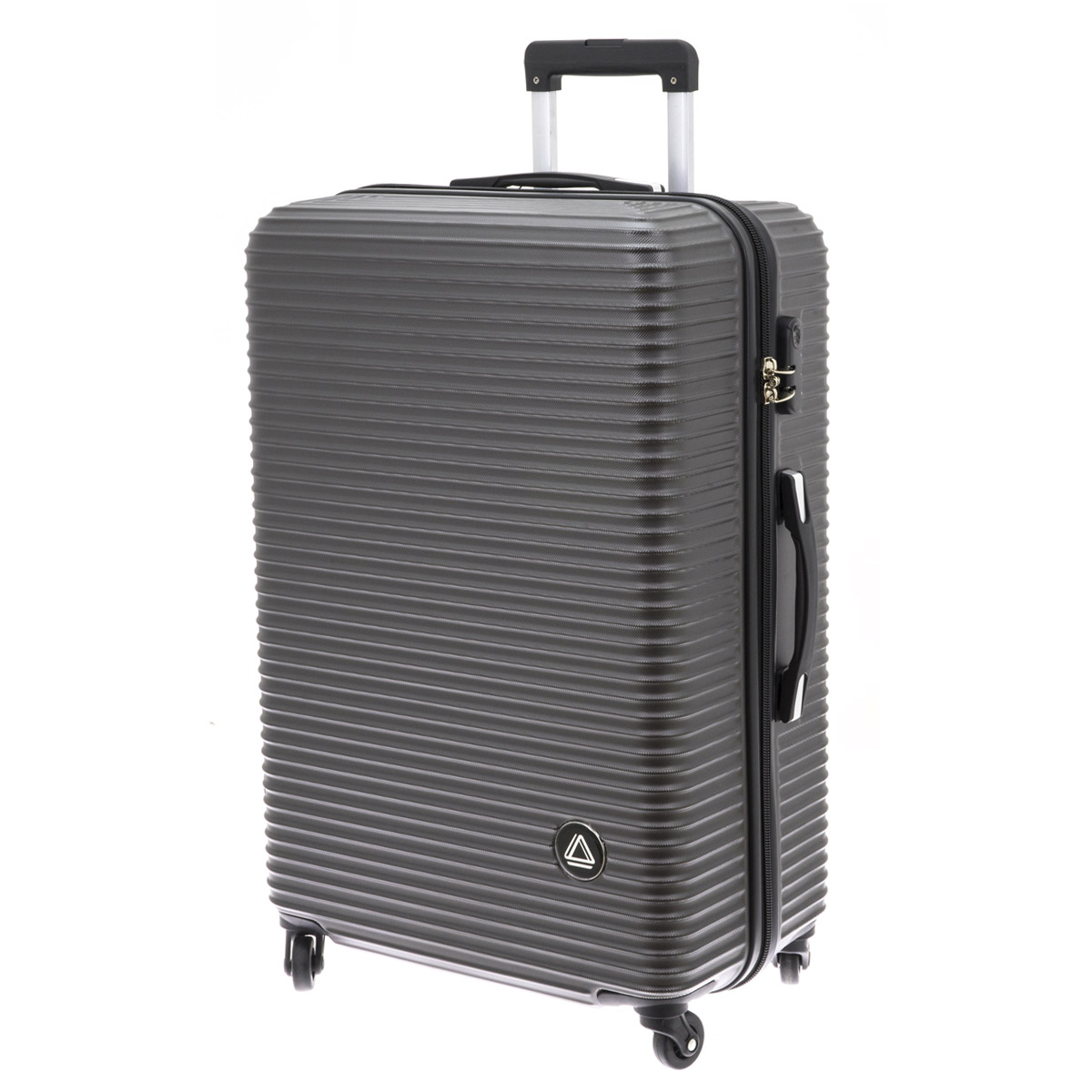 Valise trolley coque ABS \'Davidt\'s\' gris anthracite - 75x49x29 cm - [Q9934]