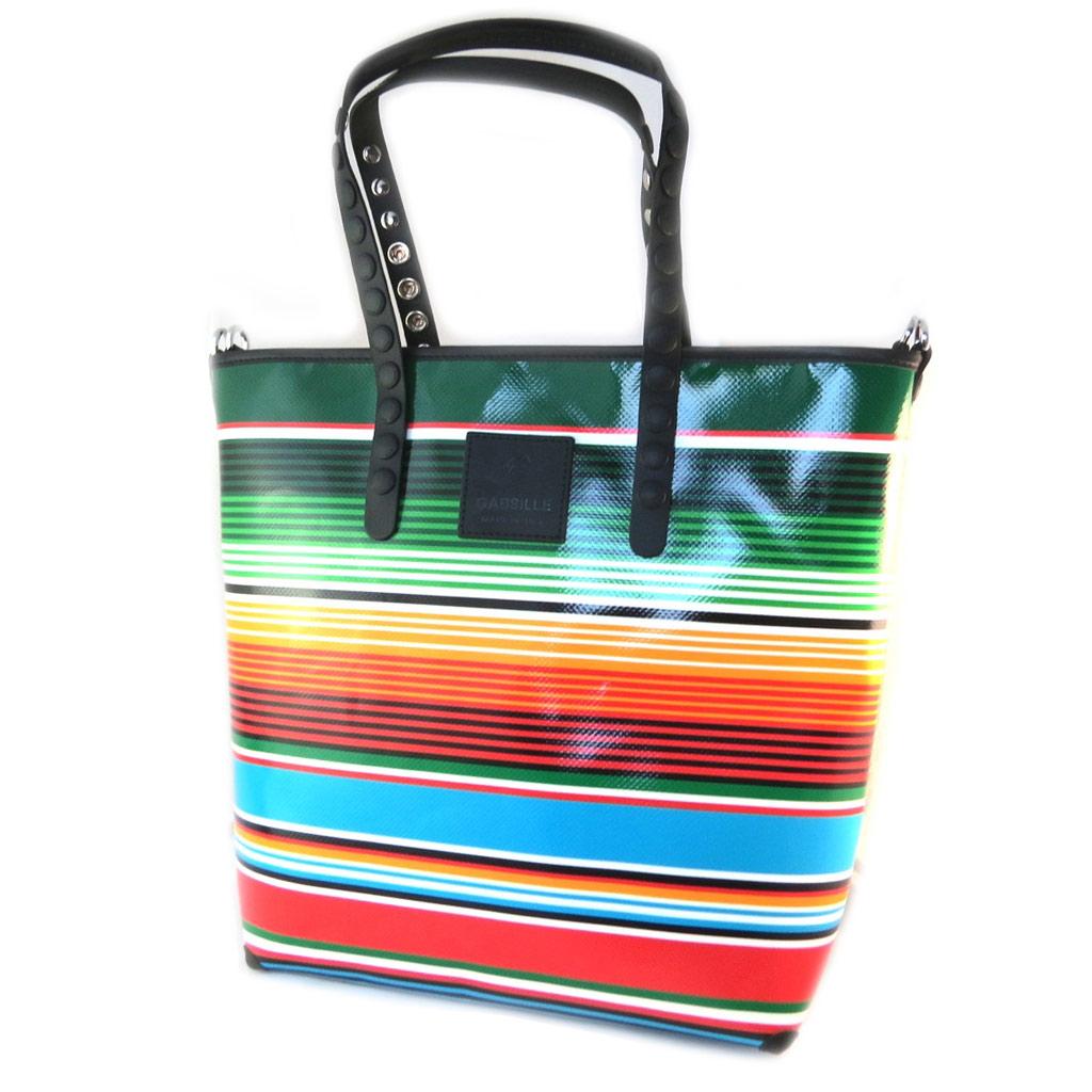 Sac créateur \'Gabs\' multicolore rayures (L) - 40x35x115 cm - [P1503]