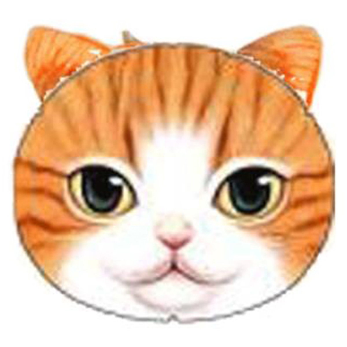 Porte-monnaie \'Chats\' orange beige - 12x10 cm - [Q4145]