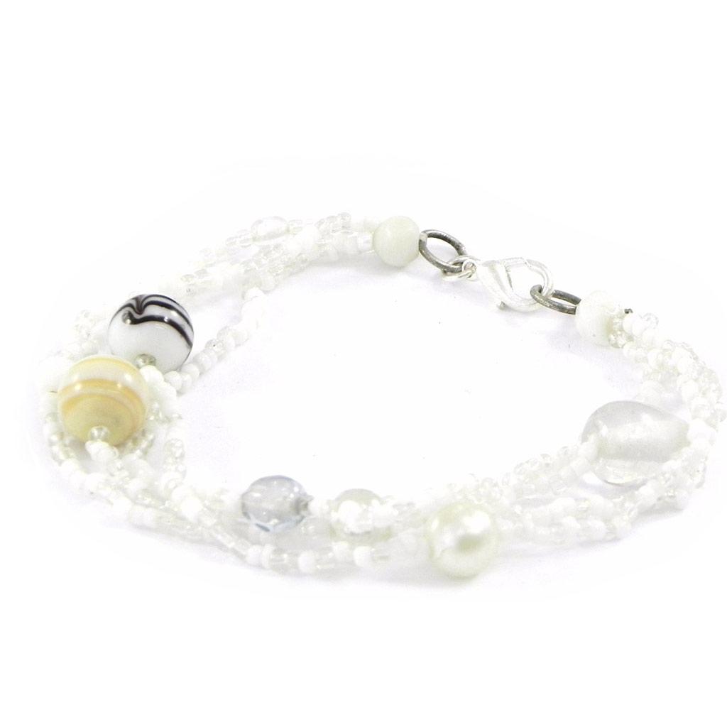 Bracelet \'Calcutta\' Blanc  - [B8203]