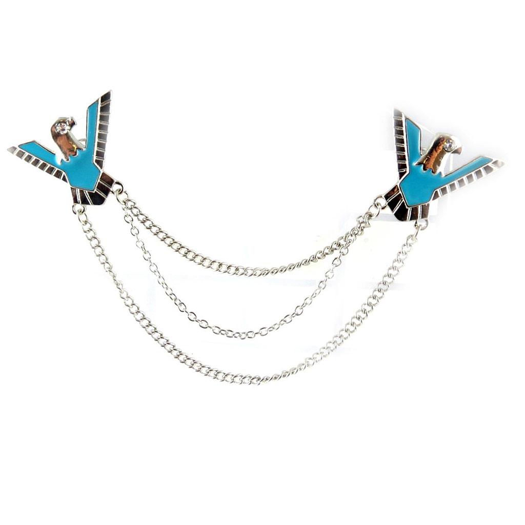 Broche Créateur \'Navajos\' turquoise - [L1868]
