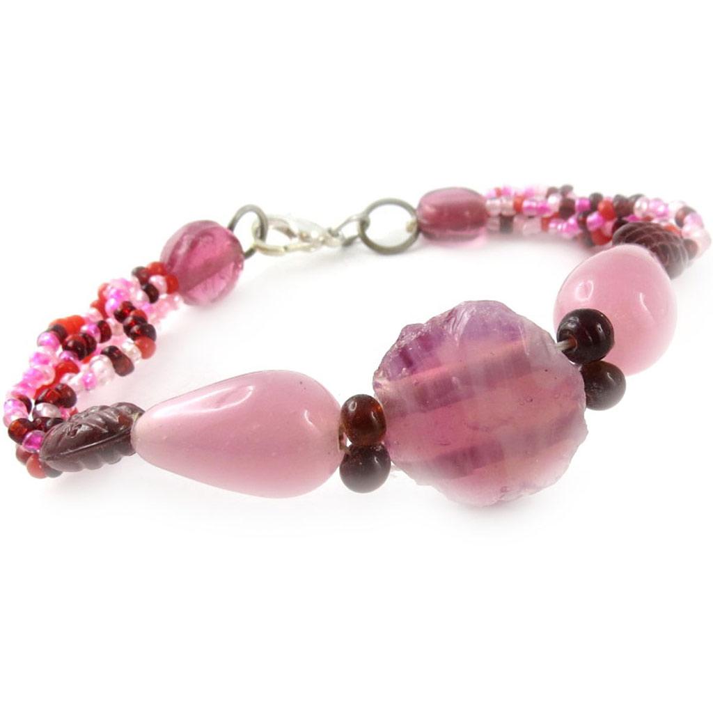 Bracelet \'Calcutta\' Rose  - [B8208]