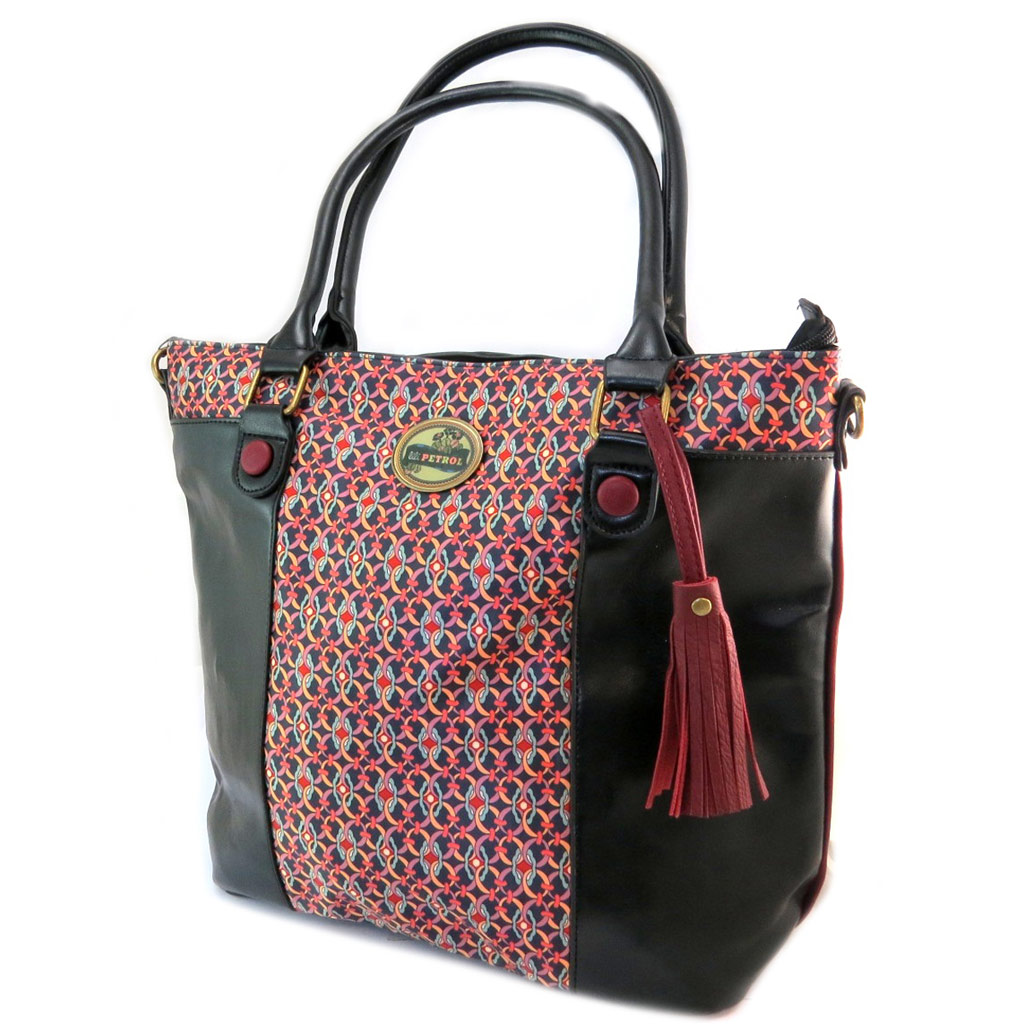 Sac créateur \'Lili Petrol\' noir rose multicolore - 425x33x14 cm - [P2647]