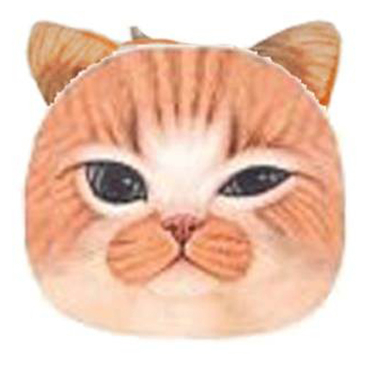 Porte-monnaie \'Chats\' orange beige - 12x10 cm - [Q4148]