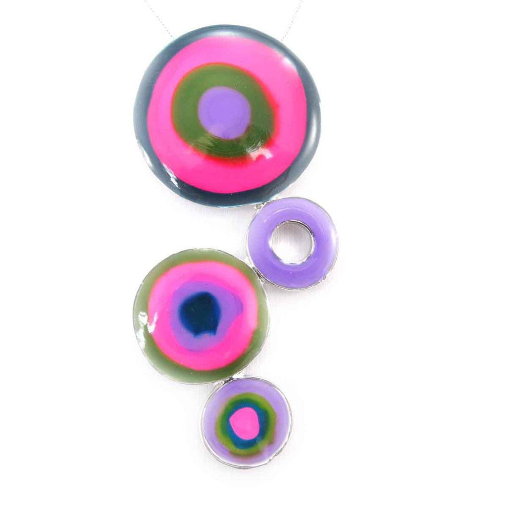 Collier \'Coloriage\' rose violet - [J9197]