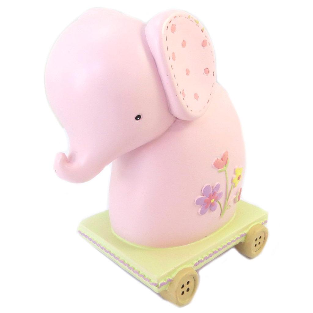 Tirelire céramique \'Bébé Elephant\' rose - [P2692]