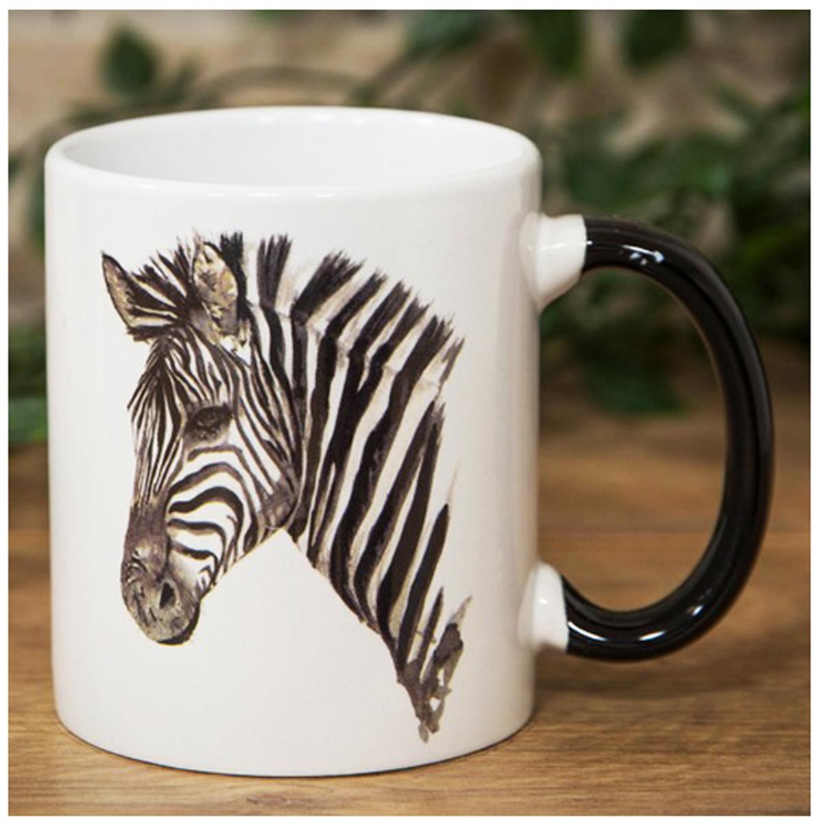 Mug Céramique \'Zèbre\' noir blanc - 9x85 cm - [R1458]